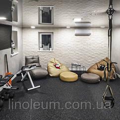 Укладывание спортивного покрытия в домашнем спортзале, 40 кв. м.