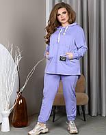 Лавандовый спортивный костюм для полных женщин, фото 1