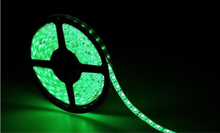 5м лента светодиодная, 300x 5050 SMD LED, зеленая