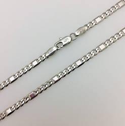 Ланцюжок, плетіння панцирних 48 см.D- 0.4 родованим ланцюжок Ювелірна біжутерія Fallon