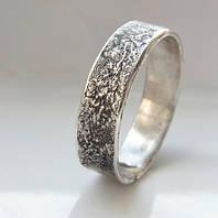 Серебряное обручальное кольцо от WickerRing