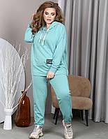 Мятный спортивный костюм для полных женщин, фото 1