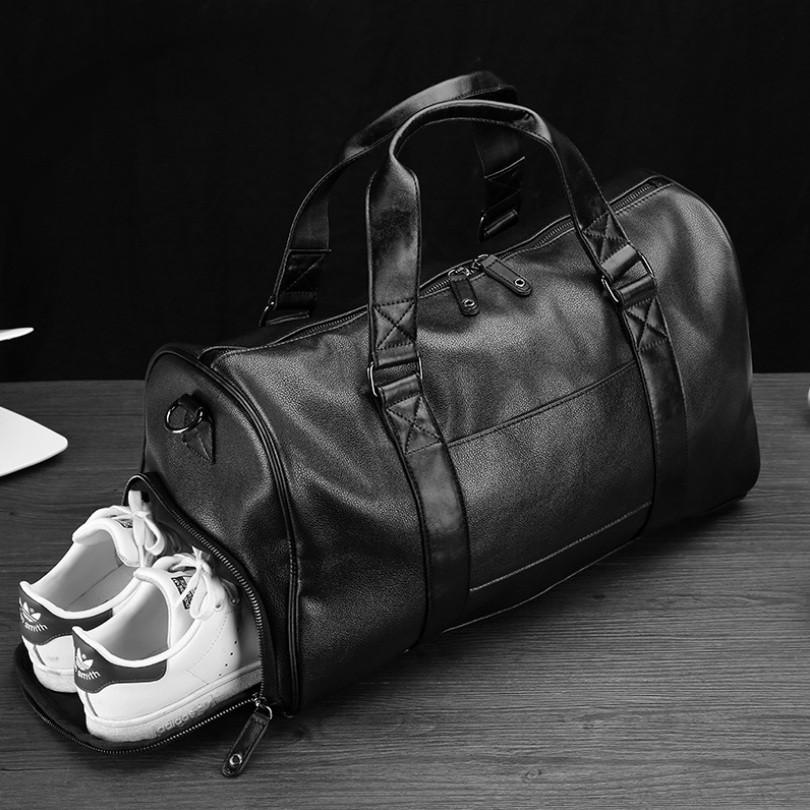 Модна чоловіча шкіряна сумка