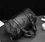 Модна чоловіча шкіряна сумка, фото 3