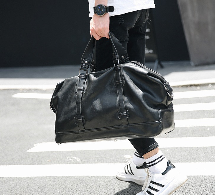 Стильна чоловіча міська сумка екошкіра