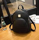 Модний жіночий рюкзак чорний, фото 2