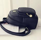 Модний жіночий рюкзак чорний, фото 3