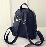 Модний жіночий рюкзак чорний, фото 4