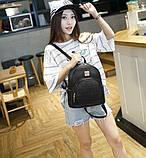 Модний жіночий рюкзак чорний, фото 5