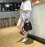 Модний жіночий рюкзак чорний, фото 6