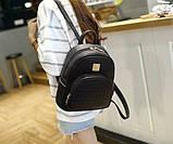 Модний жіночий рюкзак чорний, фото 7