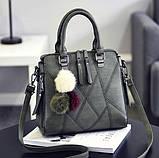 Кожаная женская сумка, фото 5
