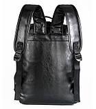 Большой мужской рюкзак для ноутбука из экокожи, фото 8
