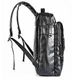 Большой мужской рюкзак для ноутбука из экокожи, фото 9