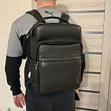 Мужской рюкзак из натуральной кожи, фото 8