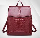 Женский рюкзак сумка Крокодил, фото 3