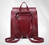 Женский рюкзак сумка Крокодил, фото 4