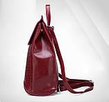 Женский рюкзак сумка Крокодил, фото 5
