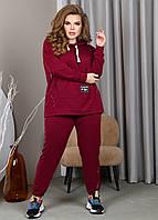Бордовый спортивный костюм для полных женщин