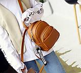 Женский маленький рюкзак эко кожа, фото 7