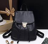 Жіночий міні рюкзак чорний, фото 2