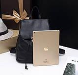 Жіночий міні рюкзак чорний, фото 3