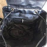 Жіночий міні рюкзак чорний, фото 5