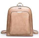 Стильний жіночий рюкзак міський сумка 2 в 1. Якісний рюкзачок сумочка чорний коричневий, фото 7