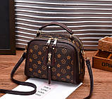 Стильна жіноча міні сумка через плече. Маленька сумочка клатч екокожа модна і стильна, фото 3