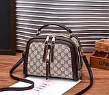 Стильна жіноча міні сумка через плече. Маленька сумочка клатч екокожа модна і стильна, фото 5