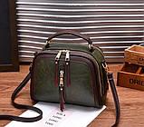 Стильна жіноча міні сумка через плече. Маленька сумочка клатч екокожа модна і стильна, фото 6