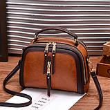 Стильна жіноча міні сумка через плече. Маленька сумочка клатч екокожа модна і стильна, фото 7