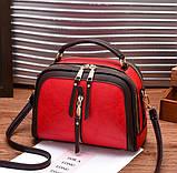 Стильна жіноча міні сумка через плече. Маленька сумочка клатч екокожа модна і стильна, фото 8