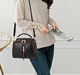 Стильна жіноча міні сумка через плече. Маленька сумочка клатч екокожа модна і стильна, фото 10