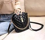 Маленькая сумка для девушки эко кожа, модная и стильная женская мини сумочка клатч стеганная, фото 8