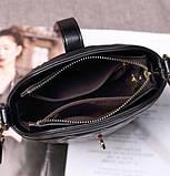 Маленькая сумка для девушки эко кожа, модная и стильная женская мини сумочка клатч стеганная, фото 10