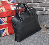 Мужская сумка для документов через плечо мужской деловой портфель эко кожа А4 формат, фото 2