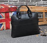 Мужская сумка для документов через плечо мужской деловой портфель эко кожа А4 формат, фото 3
