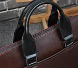 Мужская сумка для документов через плечо мужской деловой портфель эко кожа А4 формат, фото 5