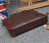 Мужская сумка для документов через плечо мужской деловой портфель эко кожа А4 формат, фото 7