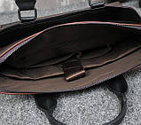 Мужская сумка для документов через плечо мужской деловой портфель эко кожа А4 формат, фото 8