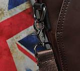 Мужская сумка для документов через плечо мужской деловой портфель эко кожа А4 формат, фото 10
