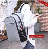 Рюкзак для ноутбука Wangka 15,6' (з захистом від проникнення та функцією підзарядки гаджетів, фото 4
