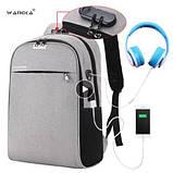Рюкзак для ноутбука Wangka 15,6' (з захистом від проникнення та функцією підзарядки гаджетів, фото 3
