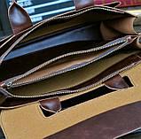 Чоловічий діловий портфель сумка, фото 4