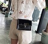Модна жіноча лакова міні сумочка, фото 2