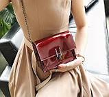 Модна жіноча лакова міні сумочка, фото 5