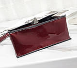 Модна жіноча лакова міні сумочка, фото 6