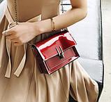 Модна жіноча лакова міні сумочка, фото 7