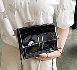 Модна жіноча лакова міні сумочка, фото 8